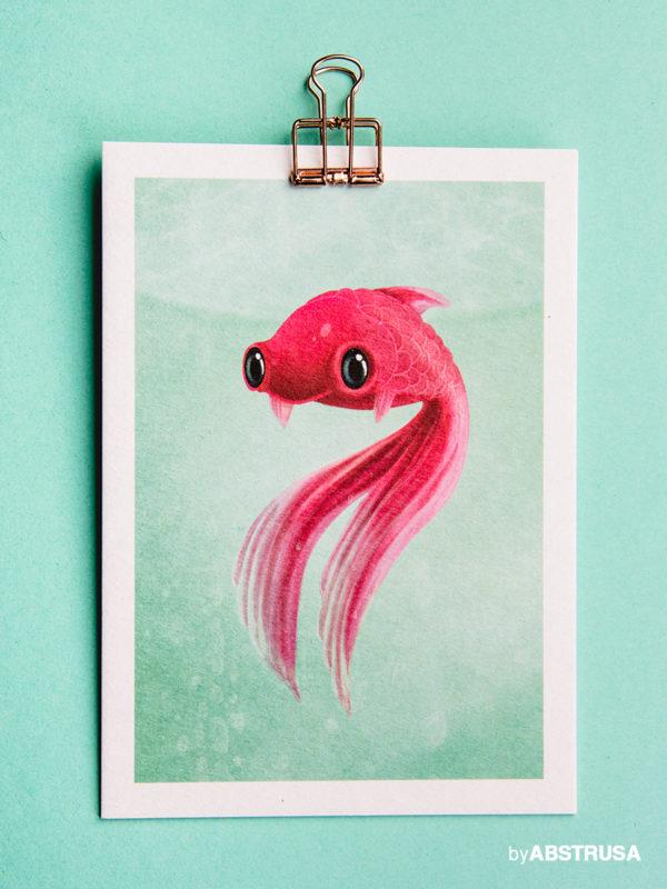 Fisch Geburtstag Postkarte Grußkarte