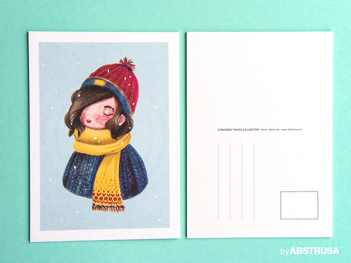 winterlich Weihnachten Postkarte