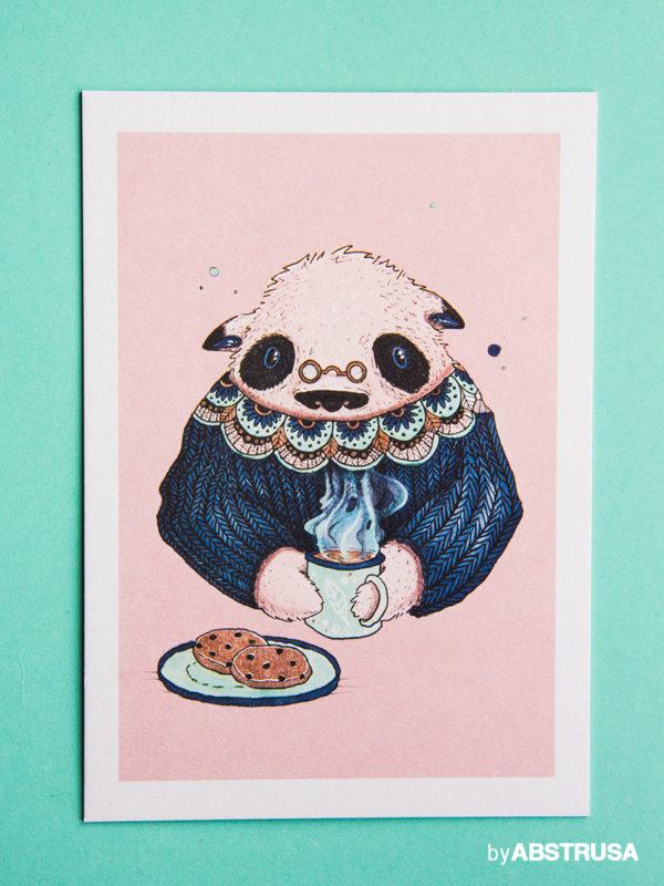 Winterliches Panda Poster
